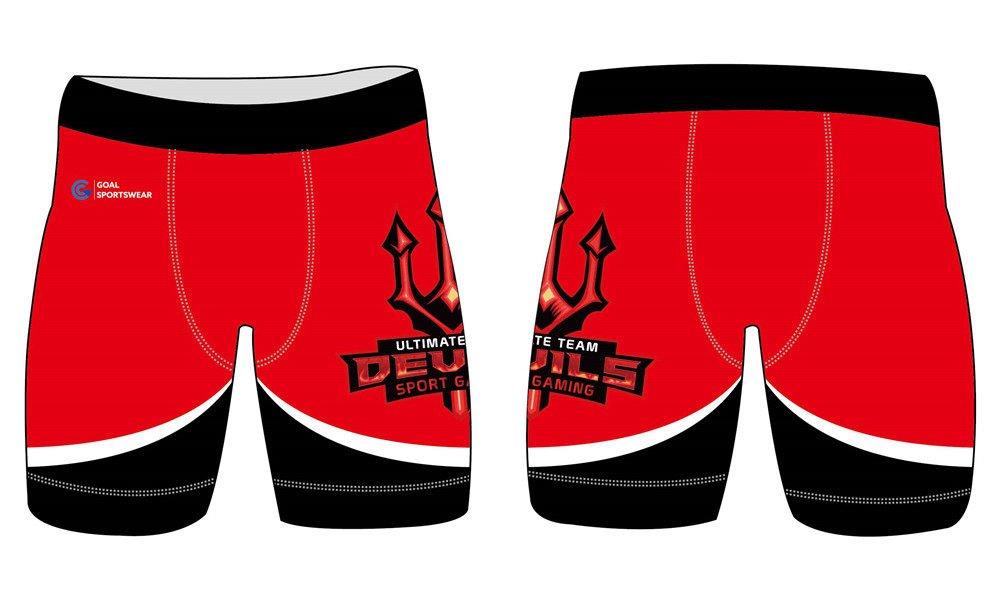 100% polyester sublimation printing custom youth team wrestling shorts
