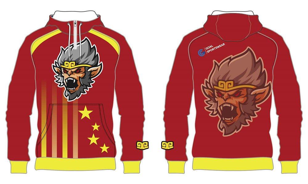 Custom design 1_4 zipper hoodies
