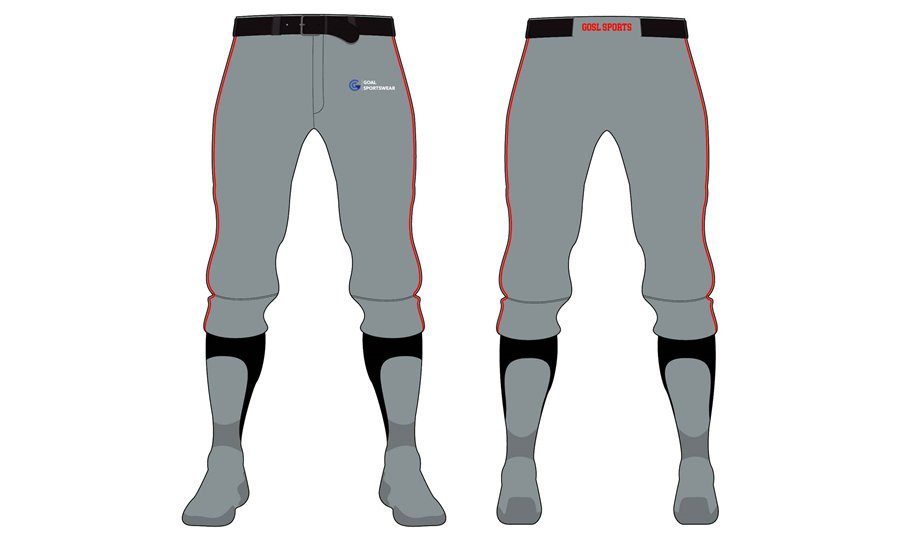 Custom design sublimation printing breathable reversible Baseball Pants