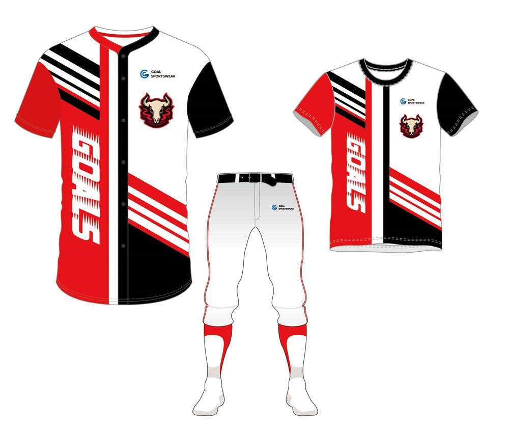 Custom design sublimation printing breathable reversible baseball uniform packages
