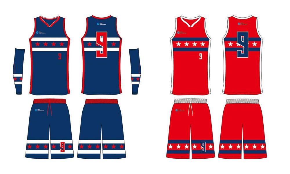 Custom design sublimation printing breathable reversible basketball jerseys