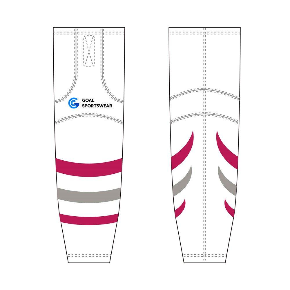 Custom design sublimation printing breathable reversible hockey socks