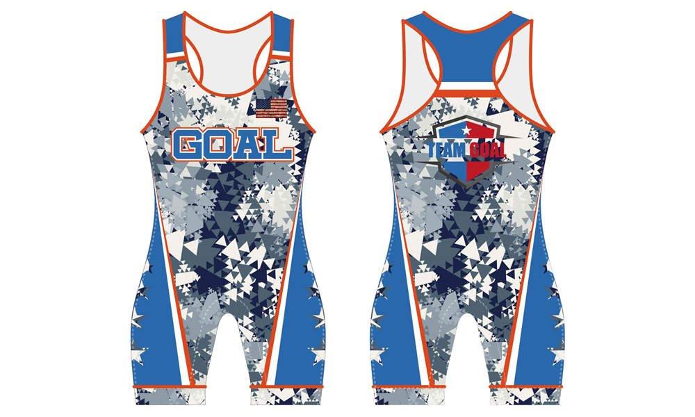 Custom design sublimation printing breathable wrestling uniform