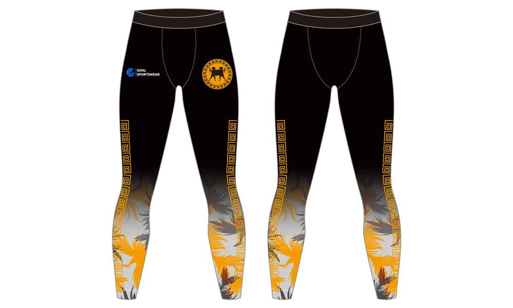 Custom made polyester spandex sublimated compression pants