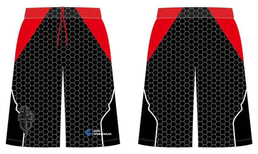 Custom made sublimated printing collgeg basketball shorts