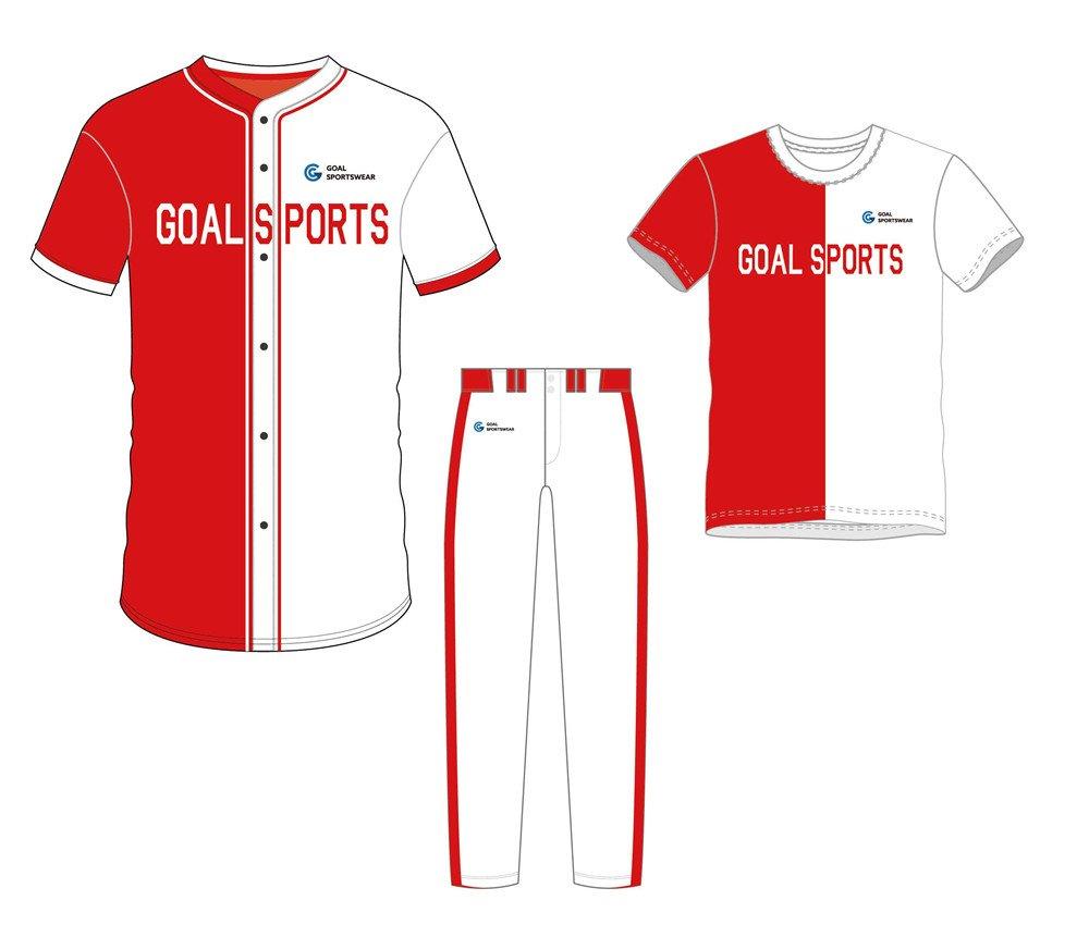 Custom made sublimated printing short sleeve baseball uniform packages