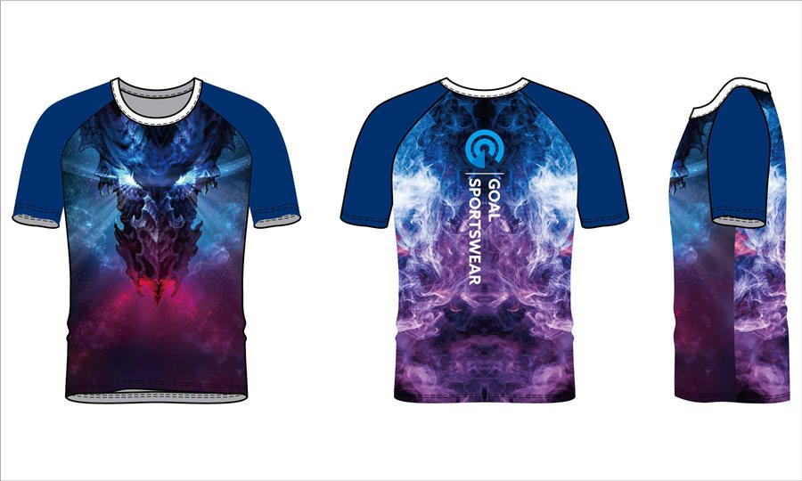 Custom made sublimated printing short sleeve rash guard shirts