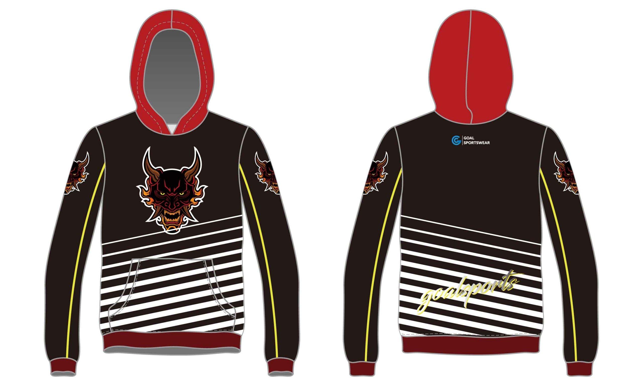 Custom made sublimated printing short sleeve wrestling hoodies