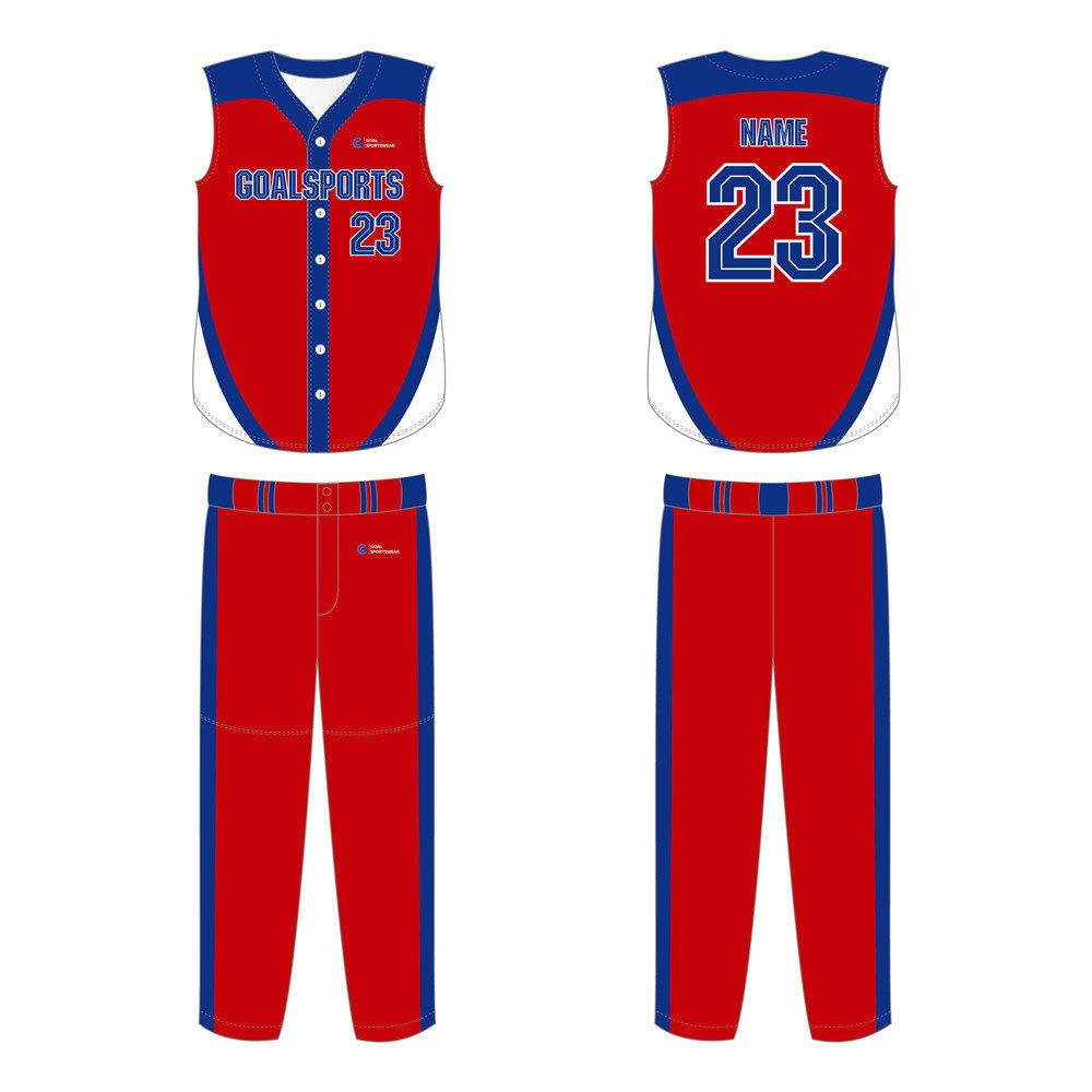 Custom made sublimated printing sleeveless Softball Jerseys