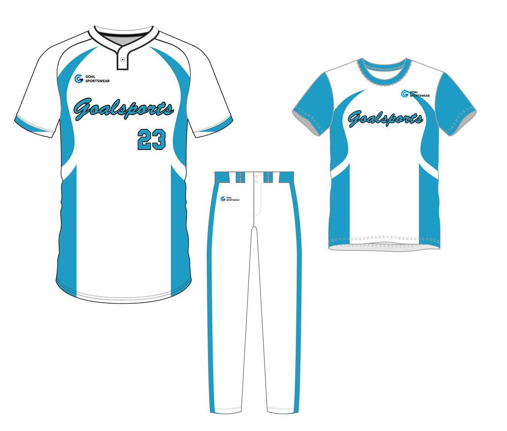 Custom made sublimation printing mens pro baseball uniform packages