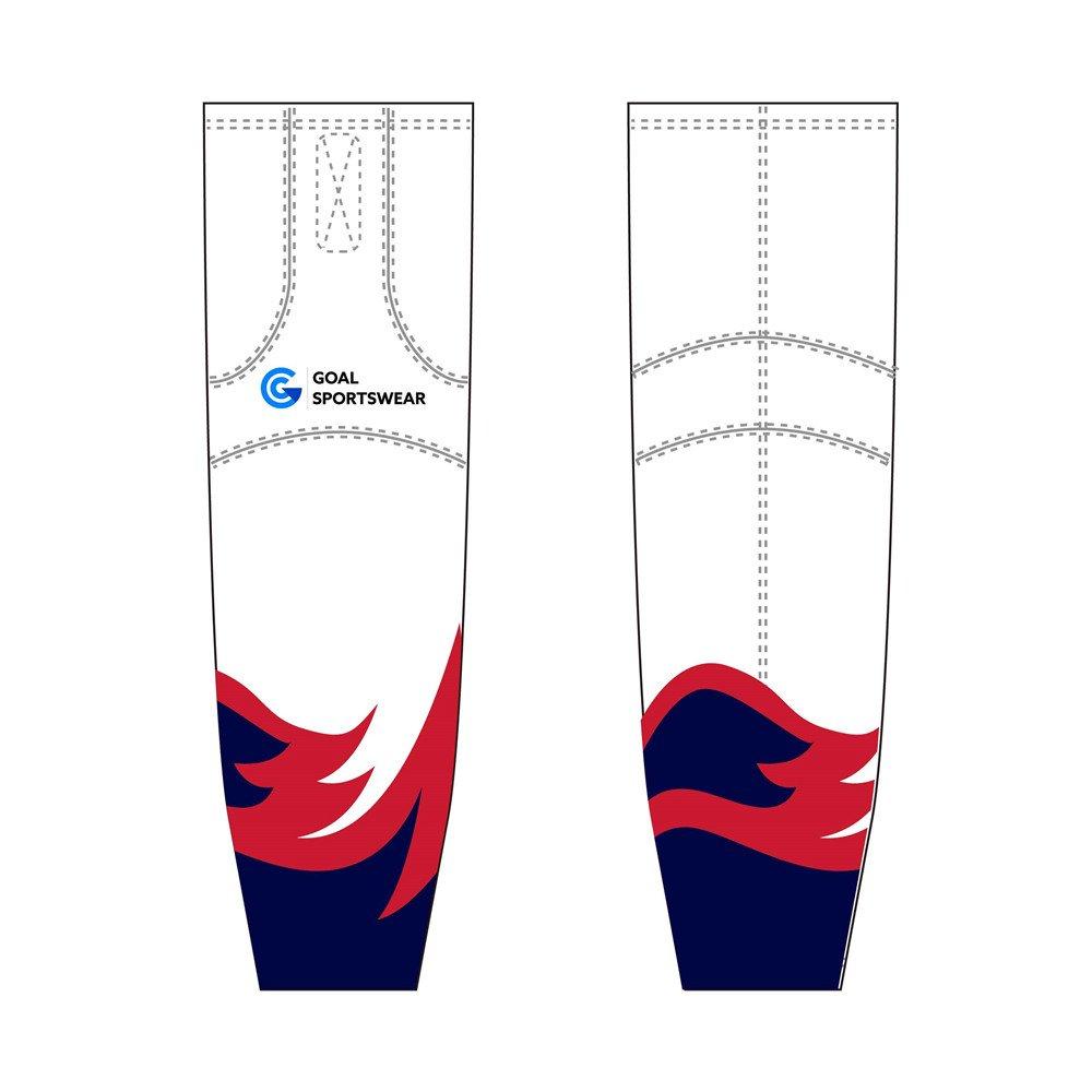 Custom made sublimation printing mens pro ice hockey socks