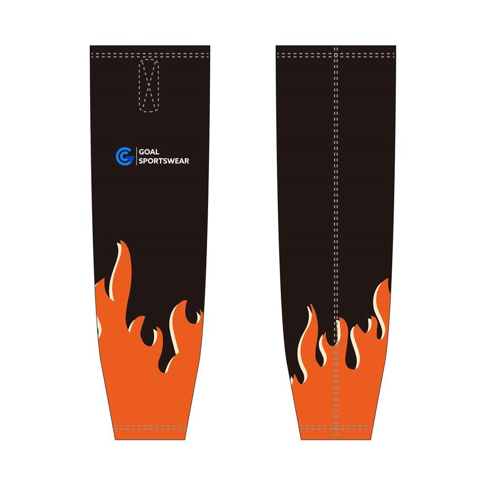 Custom wholesale sublimated printed ice hockey socks
