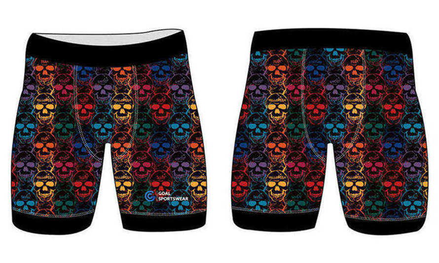 Custom wholesale sublimated printed mens compression shorts