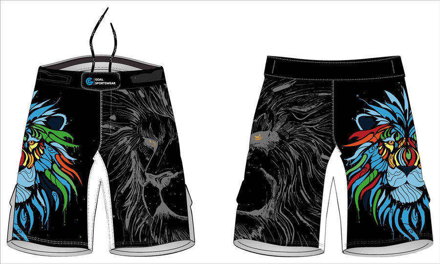 Custom wholesale sublimated printed mens team MMA fight shorts