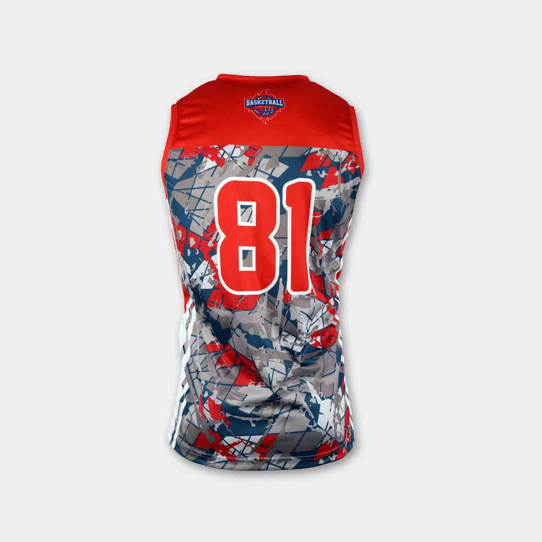 Custom wholesale sublimated printed reversible basketball jerseys