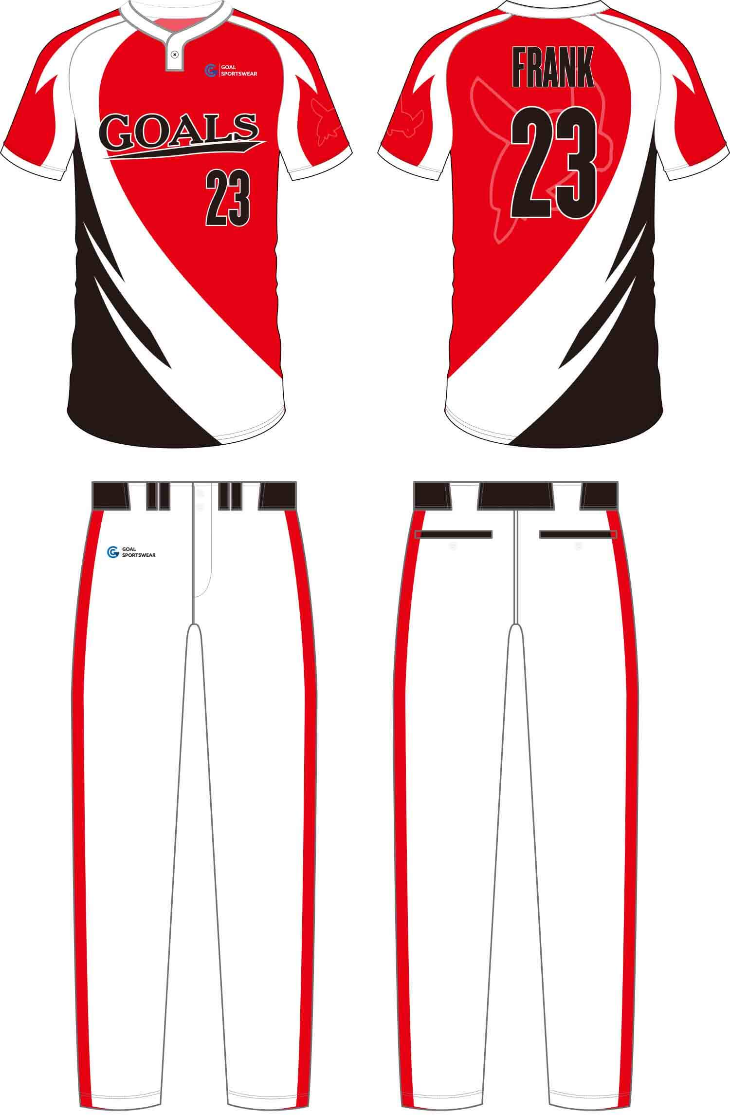 Custom wholesale sublimated printed softball pants
