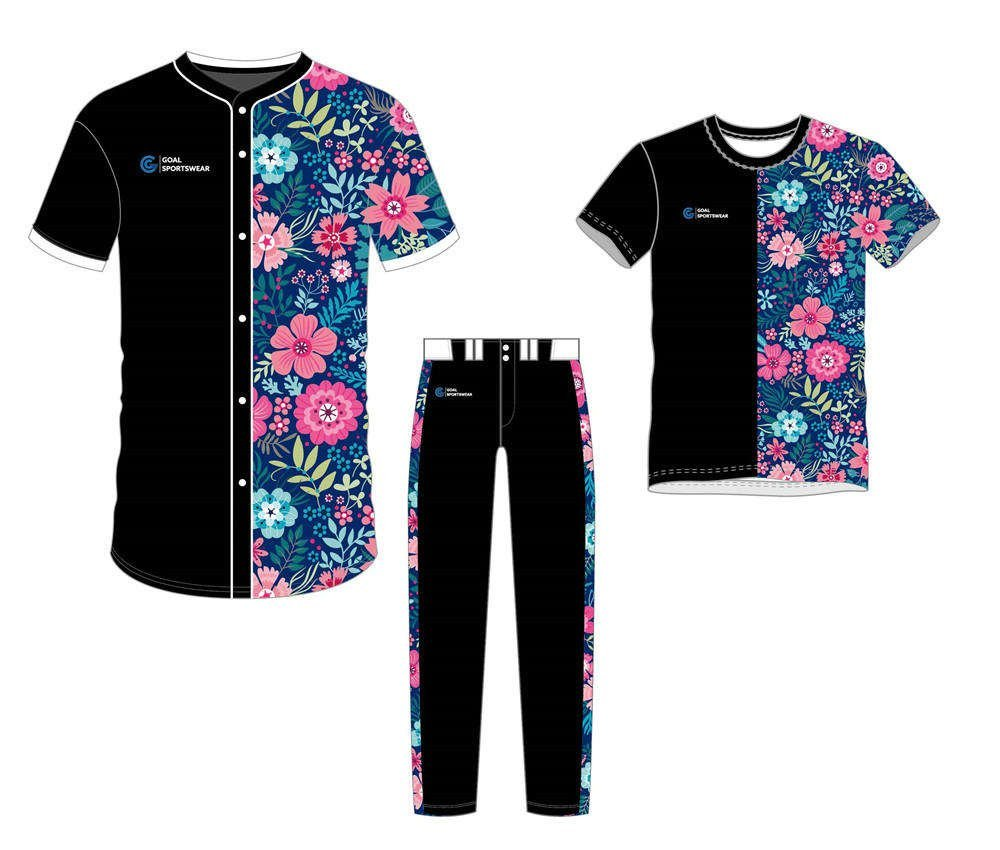 Custom wholesale sublimated printed softball uniforms team packages