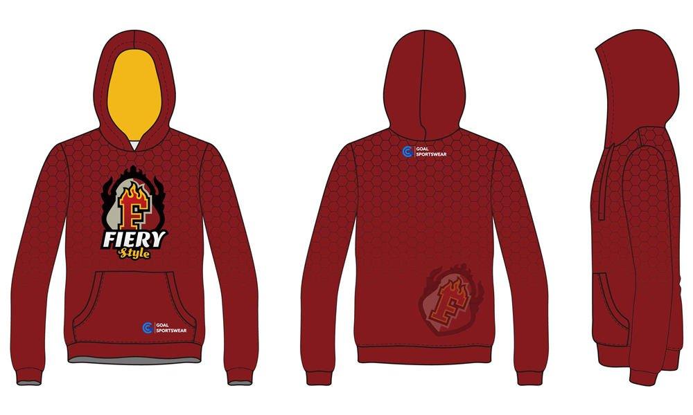 Dye sublimation custom design maroon hoodies