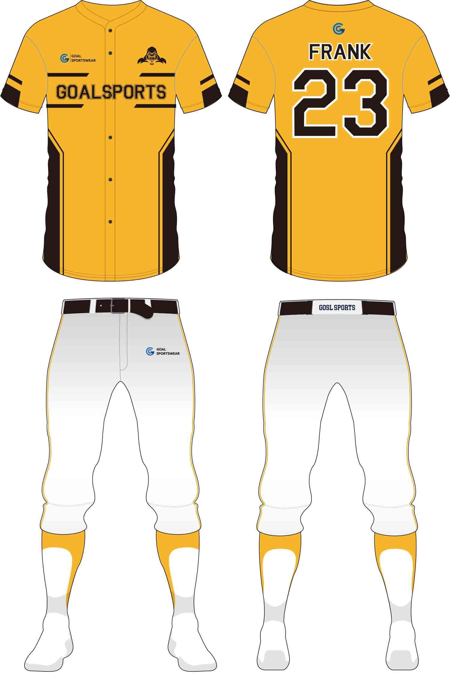 Dye sublimation custom design team Baseball Pants