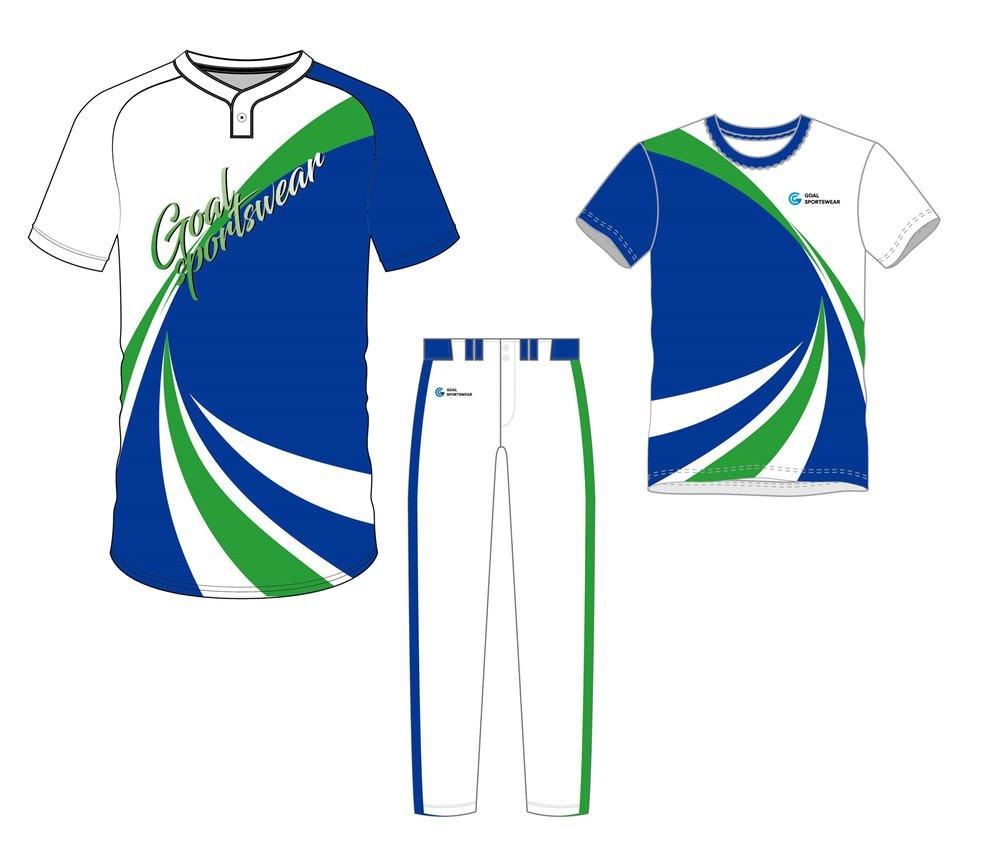 Dye sublimation custom design team baseball uniform packages