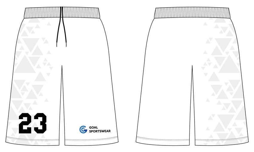 Dye sublimation custom design team basketball shorts