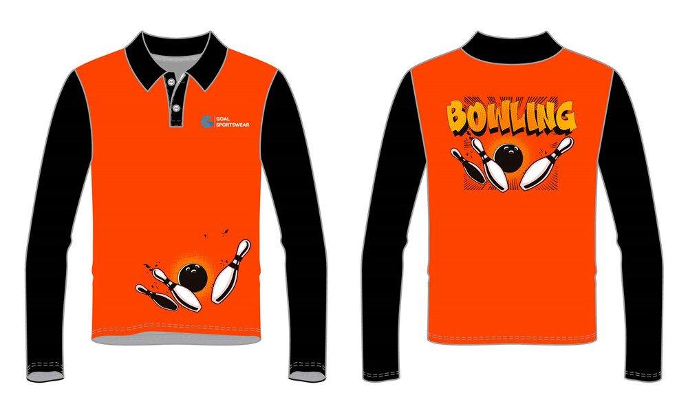 Dye sublimation custom design team bowling jerseys
