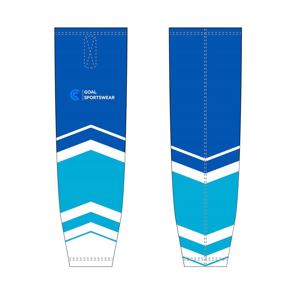Dye sublimation custom design team reversible hockey socks