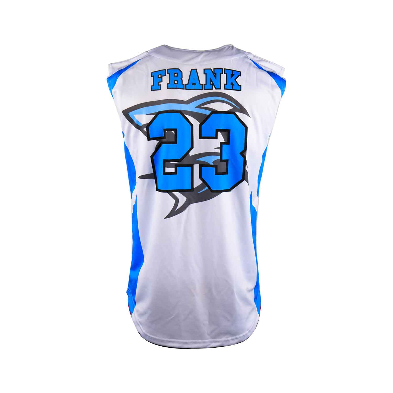 Dye sublimation custom design team sleeveless baseball jersey