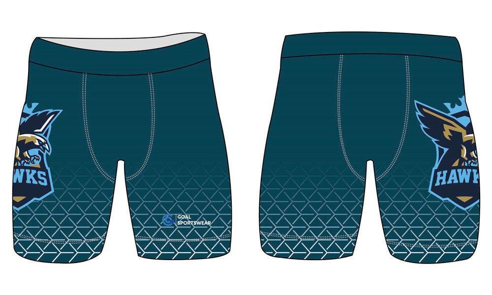 Dye sublimation custom design team wrestling shorts