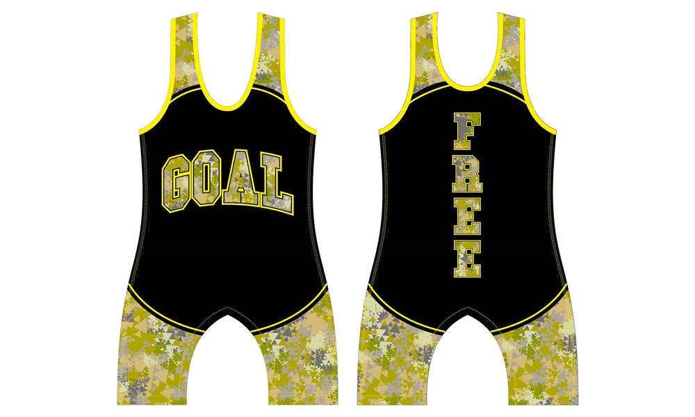 Dye sublimation custom design team wrestling uniform