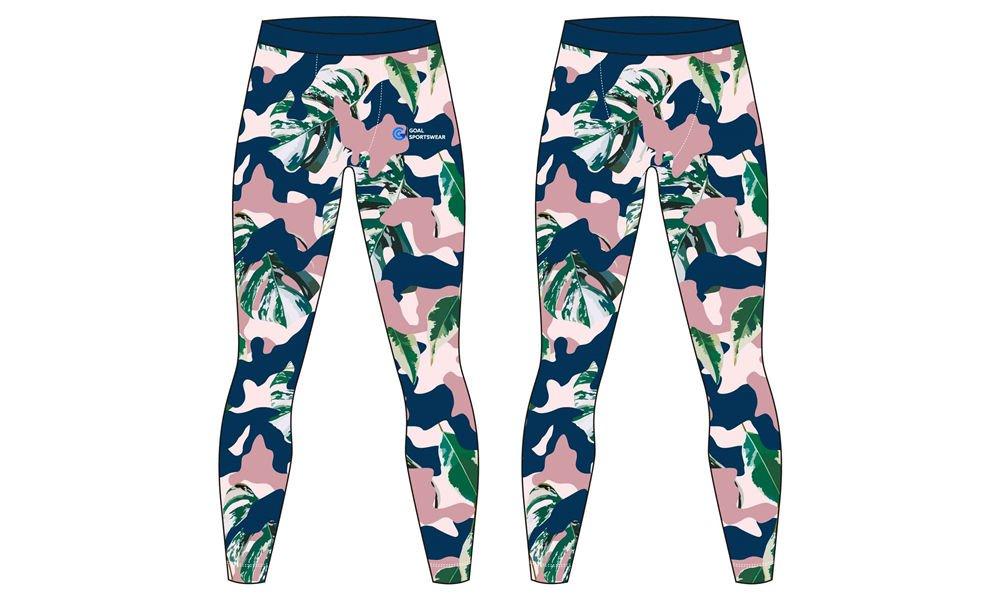 Dye sublimation high qualtiy flower design mens compression pants