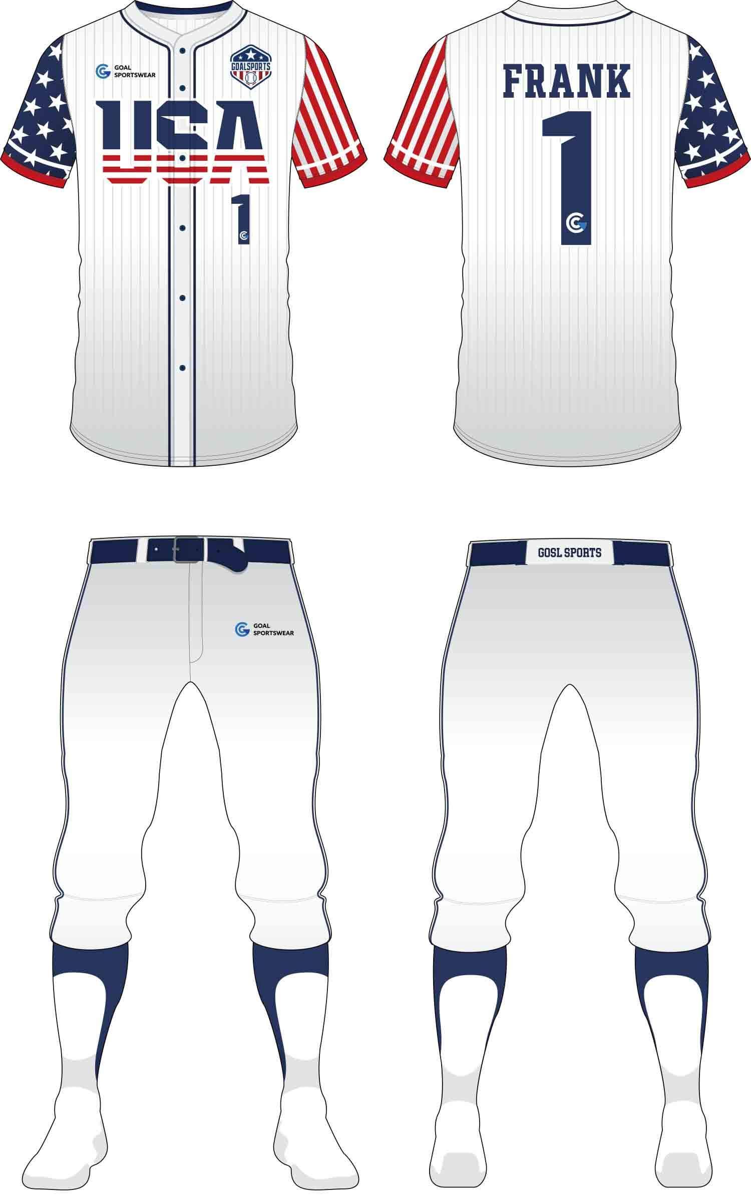Dye sublimation printing Custom design youth Baseball Pants