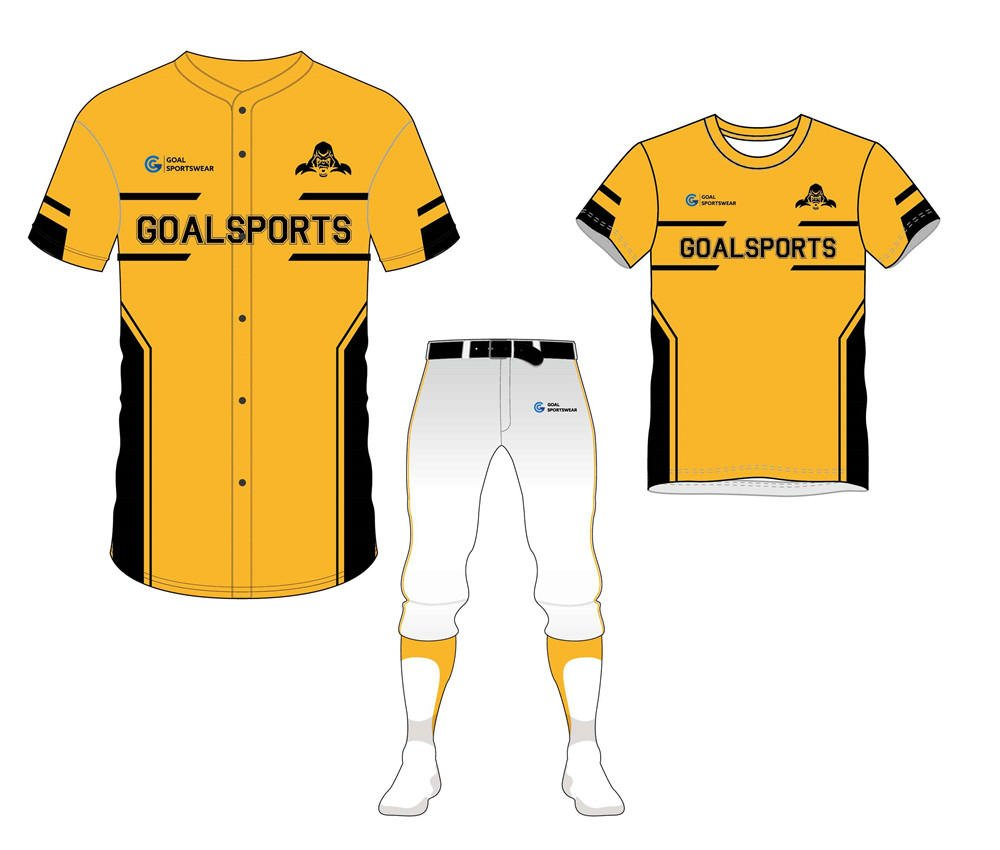 Dye sublimation printing Custom design youth baseball uniform packages