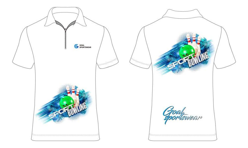 Dye sublimation printing Custom design youth bowling jerseys