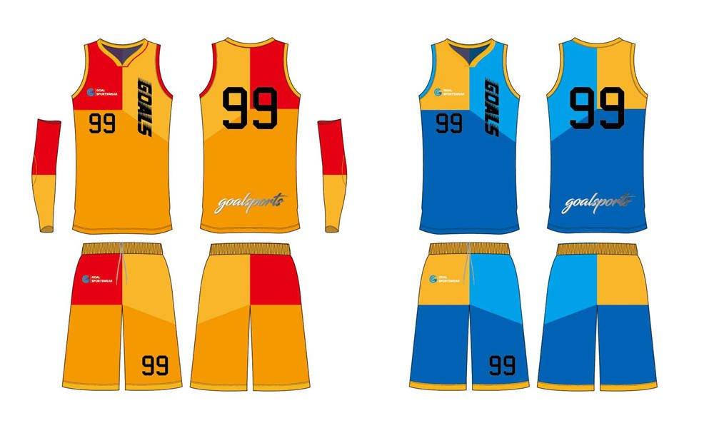 Dye sublimation printing Custom design youth reversible basketball jerseys