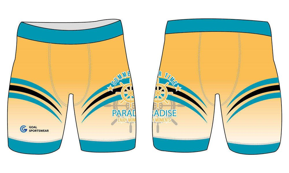 Dye sublimation printing Custom design youth wrestling shorts