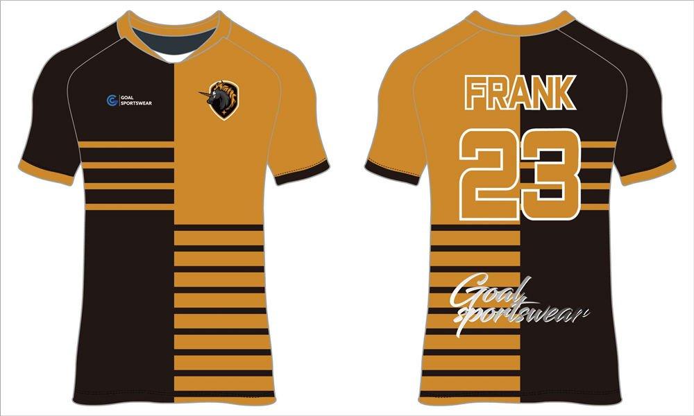 Dye sublimation printing Custom digital camo design soccer shirts