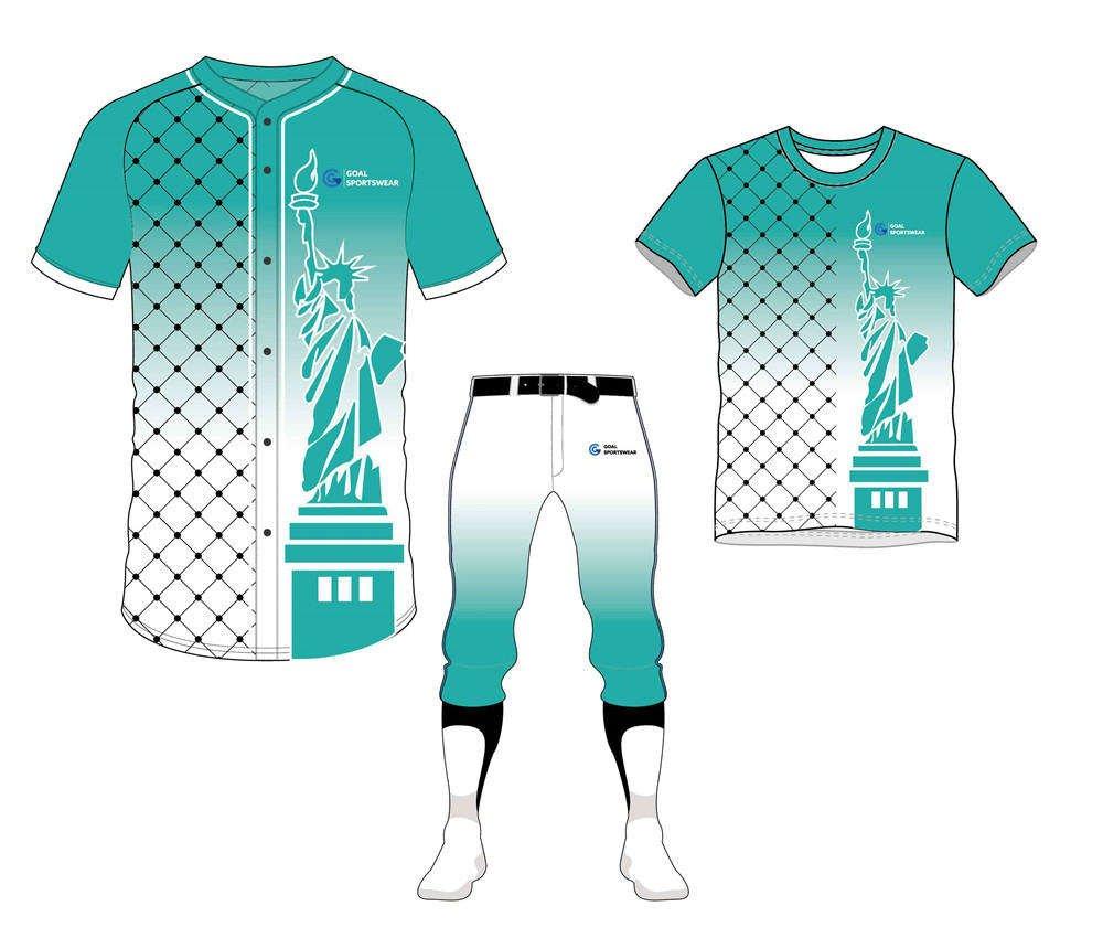 Dye sublimation printing custom design full polyester baseball uniform packages