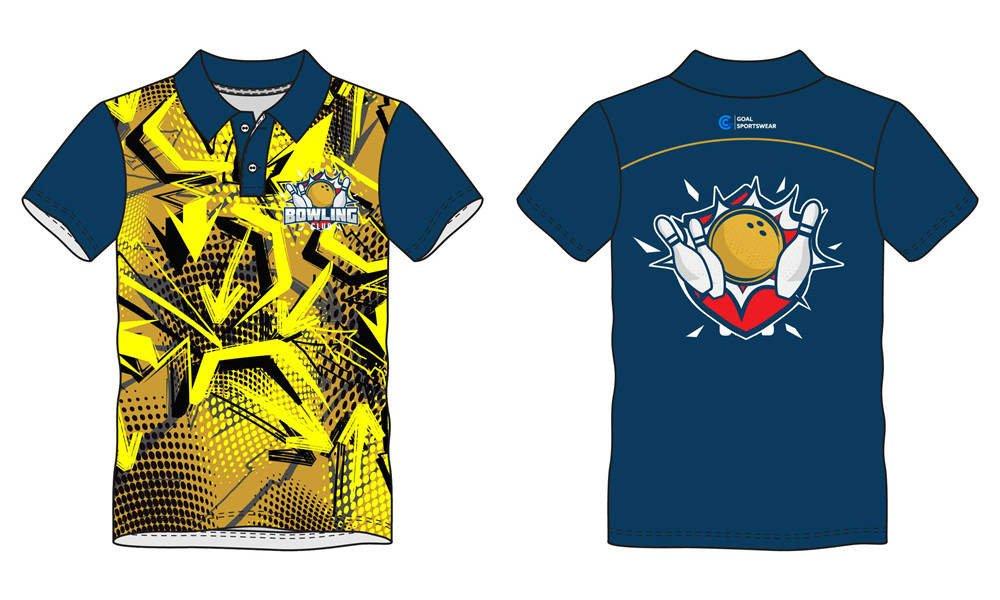 Dye sublimation printing custom design full polyester bowling jerseys