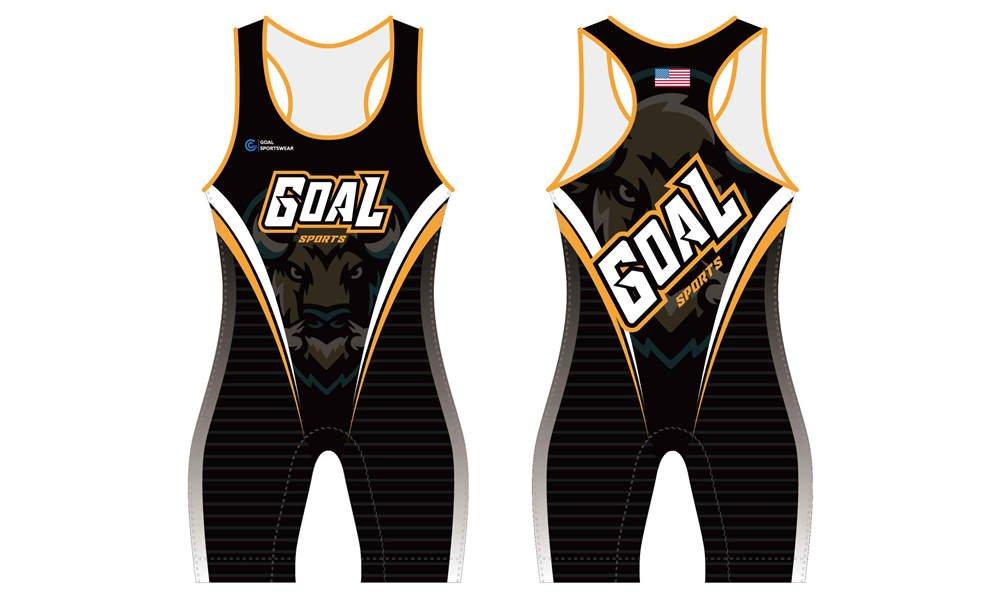 Dye sublimation printing custom design full polyester wrestling uniform