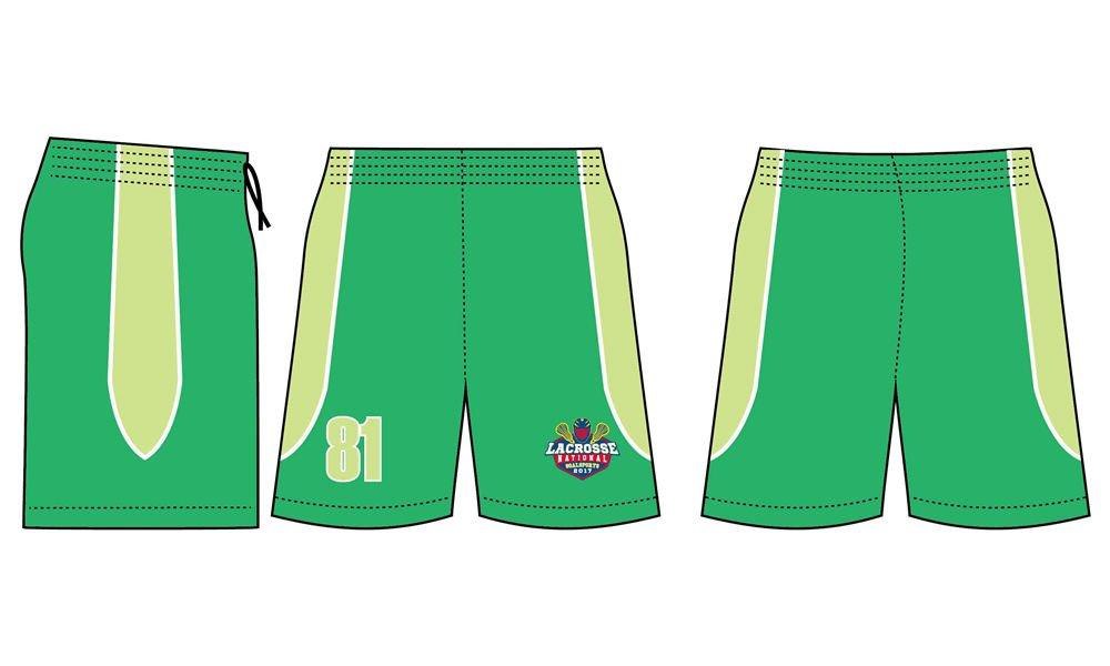Dye sublimation printing custom design polyester lacrosse shorts