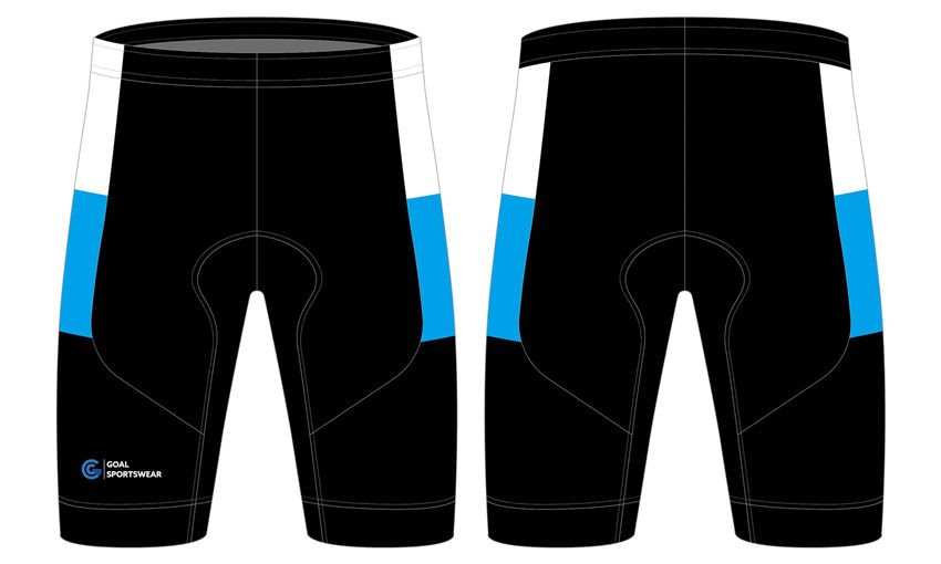 Dye sublimation printing custom design team cycling shorts