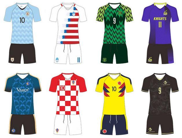 Reversible football jersey design