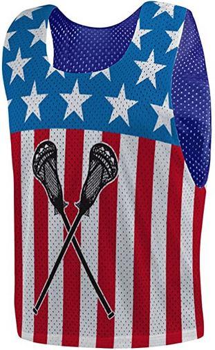 Custom lacrosse pinnies