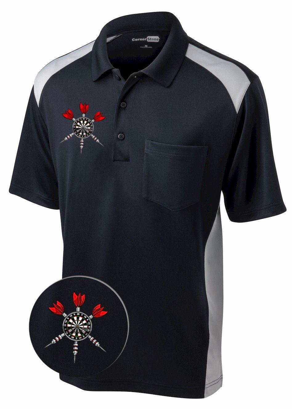 Short sleeve dart polo shirt