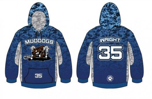 Sublimated lacrosse hoodie