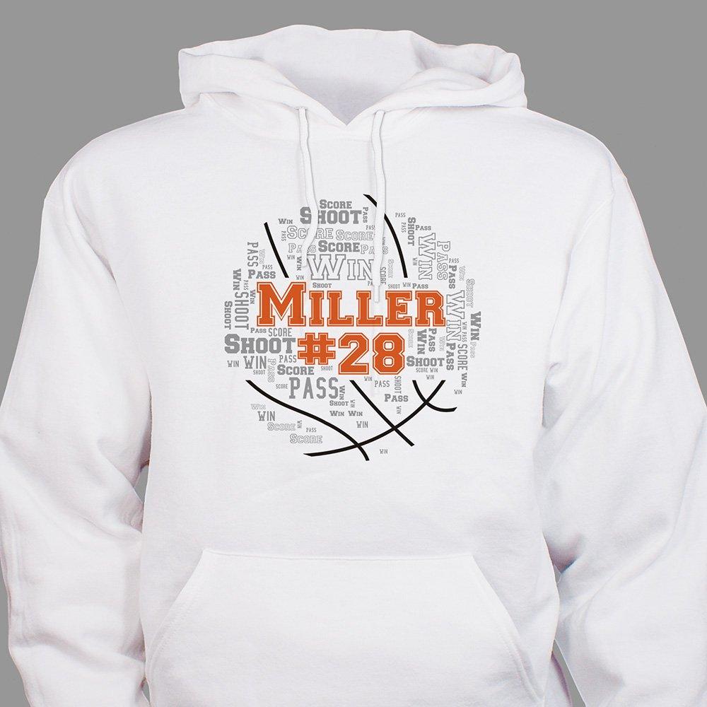 White basketball hoodie