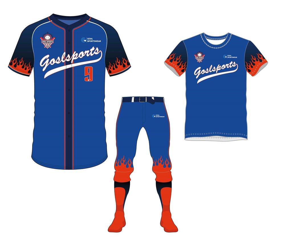 Full Sublimated custom made mens team baseball uniform packages