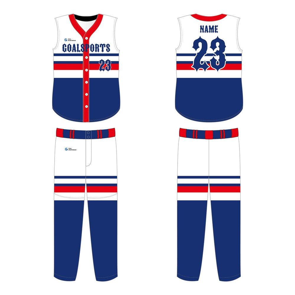 Full Sublimated custom made mens team sleeveless Softball Jerseys