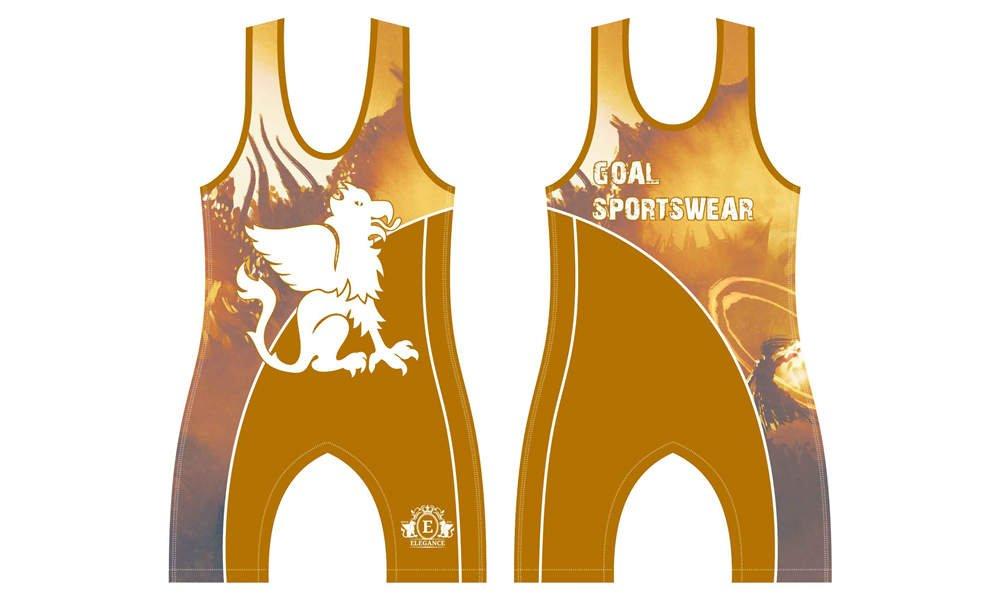 Full Sublimated custom made mens team wrestling uniform